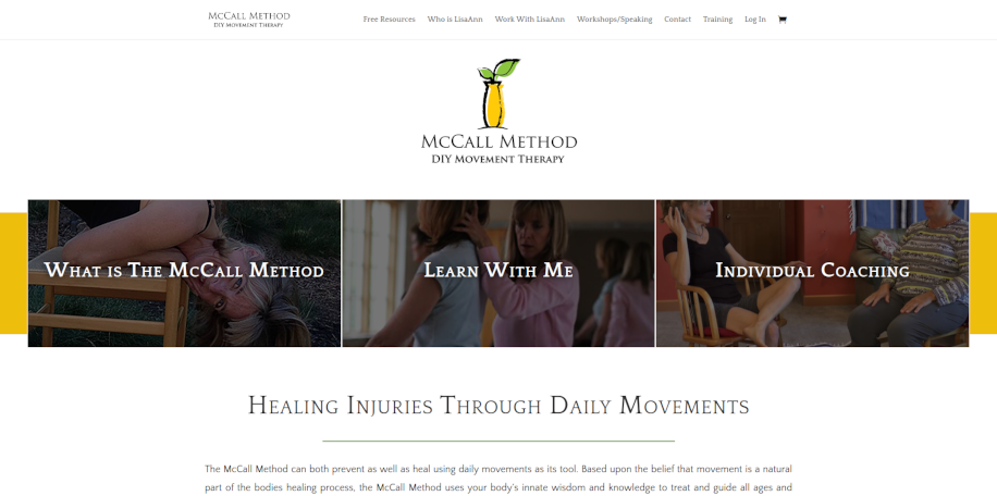 McCall Method website home page