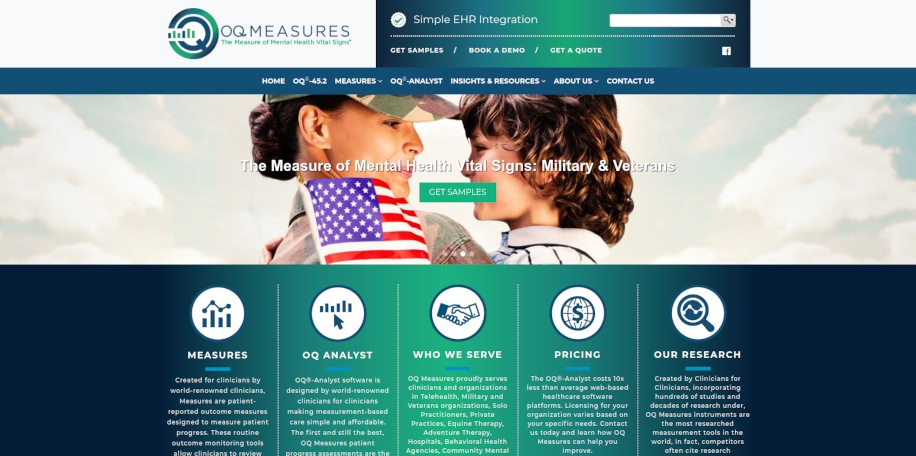 OQ Measures website home page